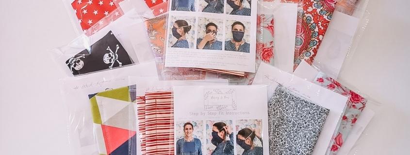 Stylish material masks